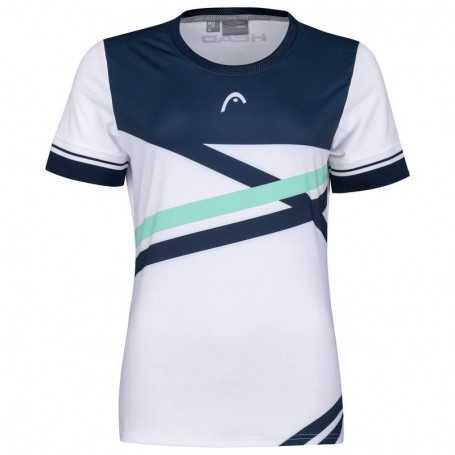 Head Performance T-Shirt Damen weiss-mint