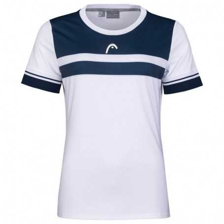Head Performance T-Shirt Damen weiss-dunkelblau