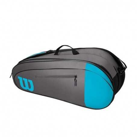 Wilson Team X6 Tennistasche grau-blau