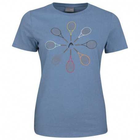 Head Vision Racquet T-Shirt Damen blau
