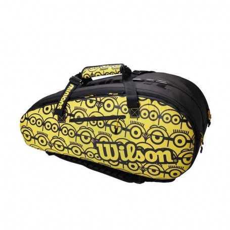 Wilson Minions Tour 12PK Tennistasche 2021 gelb-schwarz