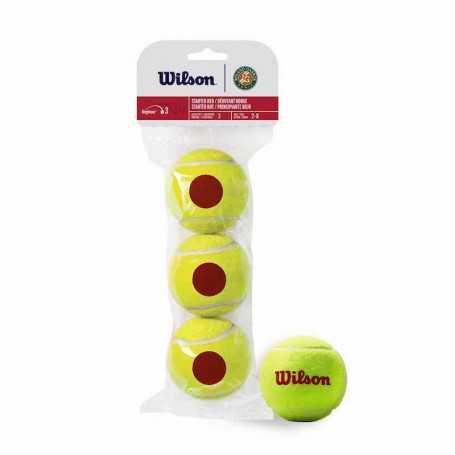 Wilson Roland Garros Red 3 Ball Beutel