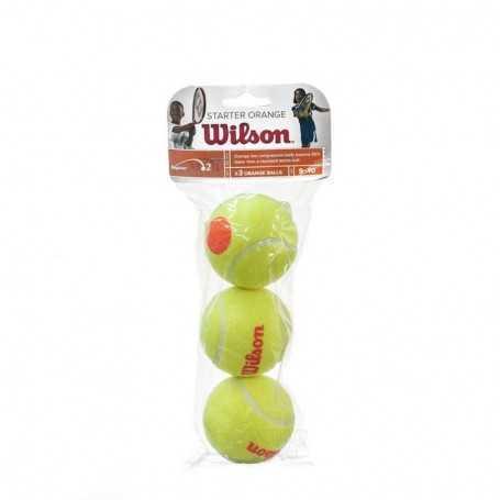 Wilson Starter Orange 3 Ball Beutel